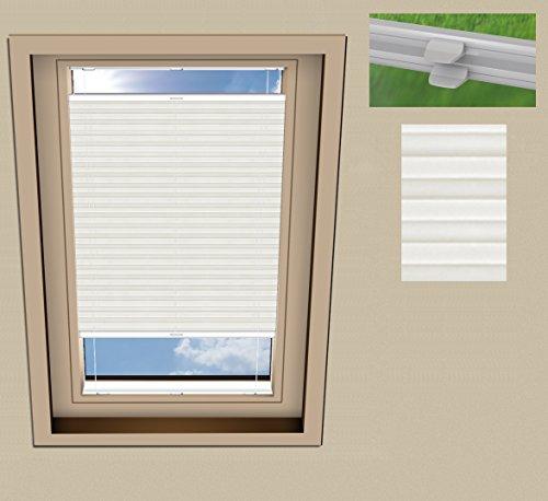 SUNLUX24 Plissee Basic Dachfenster für VELUX GGL M06 / Stoff: Weiß(PLB063) / Modell: DF 20 Basic