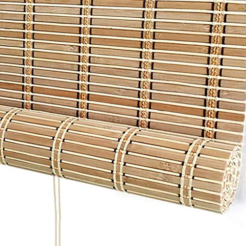 YangJ Bambusjalousien - Markise/Fenster/Pergola/Pavillon Außenrollos, Außenlichtfilterrollo, 60 cm / 80 cm / 90 cm / 100 cm breit (Größe: 55 × 63 Zoll)