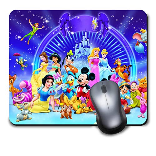 Classic Cute Disney Character Colourful Pattern Unique Design Mouse Pad,Computer Gaming Mousepad for Laptop Desktop Notebook
