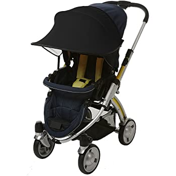 Amazon Com Manito Sun Shade For Strollers And Car Seats Black Upf 50 Baby