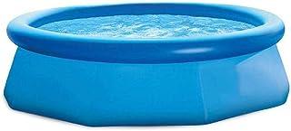 SYLOZ-Q Large Dish Pool Large Household Inflatable Pool Foldable Blue Swimming Pool Adult/child Paddling Pool Large Foldin...
