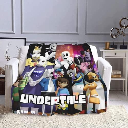 ZJJIAM Manta Undertale Sans con aire acondicionado, divertida, de lana, para juegos o decoración (4,150 x 200 cm)