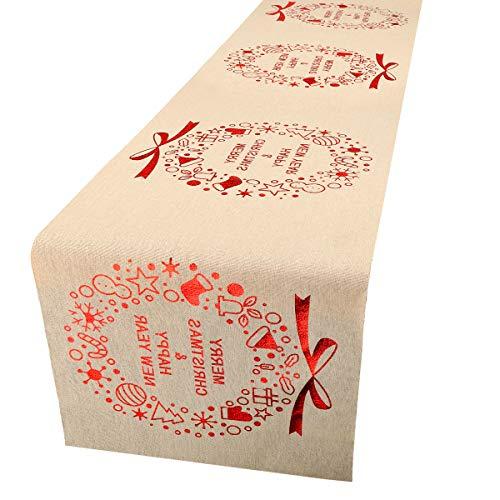 PHOGARY Camino de Mesa navideño, para el árbol de Navidad, decoración de Mesa, Fiestas, reuniones Familiares, Navidad,