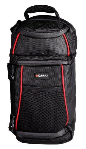 Carat Electronics Tough SLR-Sling-Bag Medium Kamera-Rucksack für SLR-Kameras mit 2 Objektiven + Blitzgerät, mit Regenhülle für max. Schutz