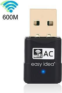 Easy idea's USB wifi Adapter,AC600 Wireless Mini USB Adapter,Mini-Sized Design,2.4GHz 150Mbps/5.8Ghz 450Mbps, For Device of Windows XP / Vista / 7 / 8 / 8.1 / 10 / MAC OS X 10