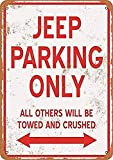 CDecor Jeep Parking Only Blechschilder, Metall Poster,