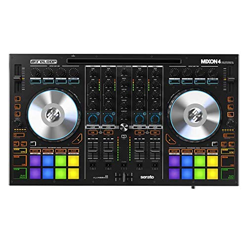 Sale!! Reloop MIXON 4 DJ Controller for Serato DJ and Algoriddim djay Software with Microfiber and 1...