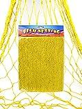 Zugar Land Colorful Cotton Yellow Fish Net (6 Ft x 15 Ft) Nautical Pirate Hawaiian Luau Fisherman Fishman Mermaid Decoratinve Fishing Netting. Hang Your Pictures. Wall Decor (Yellow)