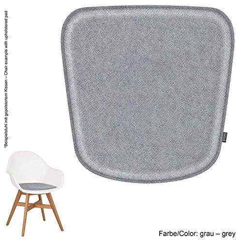 Feltd.Eco Filz Kissen geeignet für IKEA Fanbyn (mit und ohne Armlehne) - 29 Farben - optional gepolstert und mit Antirutsch! (grau)