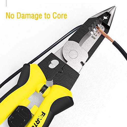 Fortunew Wire Stripper Multi-function Multi tool 7-in-1 Combi Plier 8 Inches DIY Electrical Wiring Work Cable Cutter Sharp-nose Plier Wire Crimper