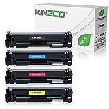 Kineco 4 Toner kompatibel mit HP Color Laserjet Pro M252dw Pro 200 M252n Farblaserdrucker kompatibel mit CF-400A CF-401A CF-402A CF-403A, Schwarz 1.500 Seiten, Color je 1.400 Seiten