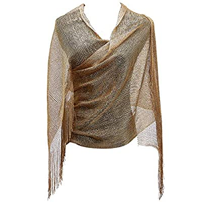 KaKaxi Sheer Glitter Sparkle Piano Shawl Wrap with Fringe Prom Weddings Evening Scarves,1920s Gatsby Vintage Style