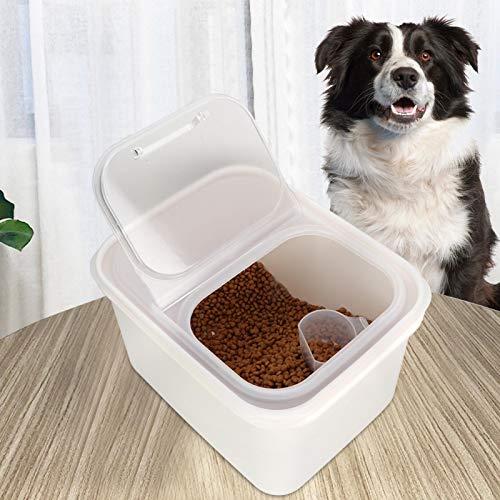 SALUTUYA Caja de Almacenamiento de Comida para Mascotas, Material plástico, Herramienta de Comida para Mascotas para Perros y Gatos,