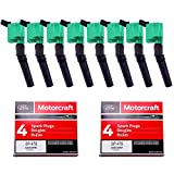 MAS Pack of 8 Ignition Coil DG508 and OEM Spark Plug SP479 Compatible with Ford 4.6L 5.4L V8 DG457 DG472 DG491 CROWN VICTORIA EXPEDITION F-150 F-250 MUSTANG LINCOLN MERCURY EXPLORER