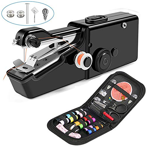 Find Bargain ZXLLAFT Portable Sewing Machine, Crafting Mending Machine, Handheld Electric Sewing Mac...