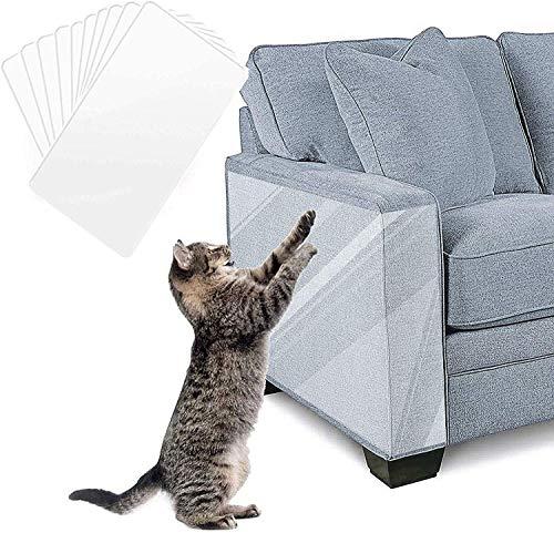 WELLXUNK® Katze Kratzschutz Sofa, Anti Kratz Möbelschutz, Möbel Protector-Kratz Scratch Couch Schutz mit Selbstklebende Pad, Kratzschutz Protector für Tür Möbel Wand, Transparent Anti Kratz Pad