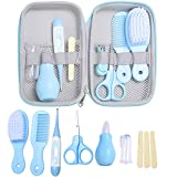 Yinuoday 8pcs Baby Daily Care Kit Convenient Baby Grooming Kit Scissors Nail Clipper Hair Brush Comb Manicure