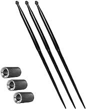 3x 1100 mm | M22 | voorladertanden & 3x 38x100 conusbus | grote baltham | tanden | balspies | set | conushuls | bus | inla...