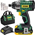 Teccpo 1600In-lbs 20V MAX 2000mAh Battery Impact Drill