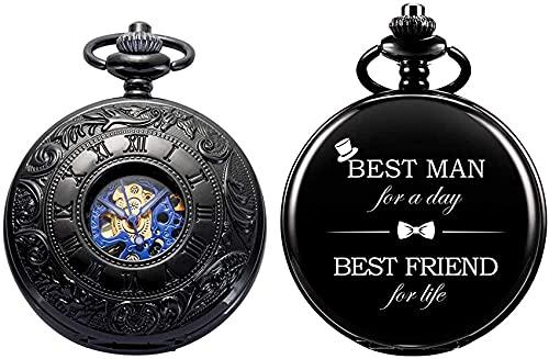 FHISD Reloj de Bolsillo Personalizado con Grabado del Mejor Hombre Reloj de...