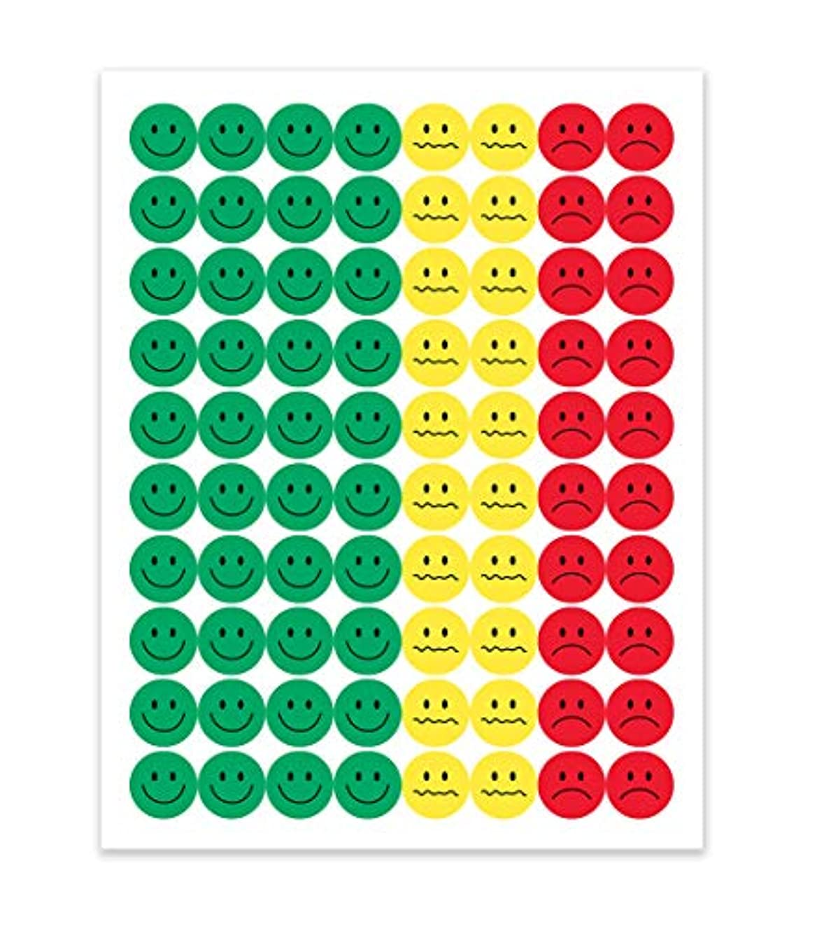 Hygloss Products 1200 Behavior Stickers, 1/2-Inch, Green/Yellow and Red