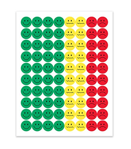 Hygloss Products-41825 Behavior Sticker Set, 1/2 Inch Each, Pack of 320 Stickers - (Red Yellow Green)