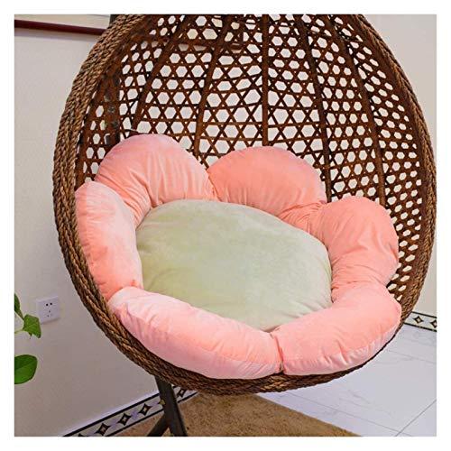 ZHZH Outdoor/Indoor Furniture Chair Cushion Wicker Rattan Hanging Egg Hammock Chair Cushion Outdoor Garden Patio Swing Chair Cushion Sun Flower Detachable Egg Nest Chair Cushion
