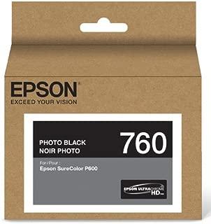 Epson T760120 UltraChrome HD Photo Black Standard Capacity Cartridge Ink