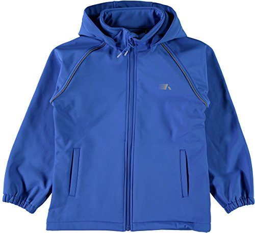 NAME IT Kinder Softshelljacke Nitalfa Magic Print wasserdicht 8000 mm, Größe:152, Farbe:Lapis Blue