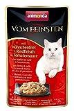 Comida para gatos animonda Vom Feinsten Adult, comida húmeda para gatos adultos en bolsitas, con...