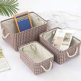 Caja de almacenamiento de tela, canasta de almacenamiento plegable para bebés...