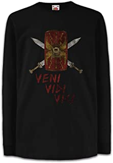 Urban Backwoods Veni Vidi Vici Shield Camisetas de Manga Larga T-Shirt para Niños Niñas