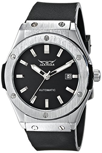 WINNER PMW085 - Reloj de Pulsera Hombre, Caucho, Color Negro