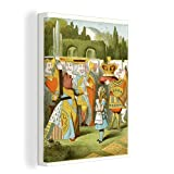 Leinwandbild - Illustration des Märchens Alice im
