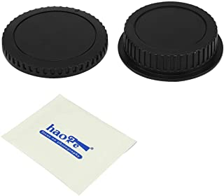 Haoge Camera Body Cap and Rear Lens Cap Cover Kit for Canon EOS EF EF-S EFS Mount Camera Lens Such as 10D 20D 30D 40D 50D 60D 70D 77D 80D 90D 1D 1DC 1Ds 1DX 5D 5DS 6D 7D Mark I II III IV