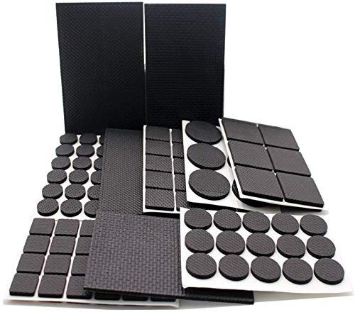 Rutschfeste Gummi-Möbel-Pads, schwarz, 186 Stück Holzbodenschoner für Stuhlbeine, Fliesen, Teppich, Hartholzböden.