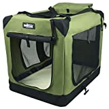 folding soft dog crate in multiple colors and sizes