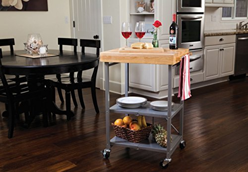 A Folding Kitchen Cart is a great kitchen space saver for small spaces