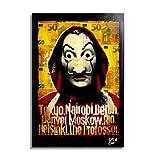 Máscara de Dalí de la serie de televisión La Casa de Papel - Pintura Enmarcado Original, Imagen Pop-...