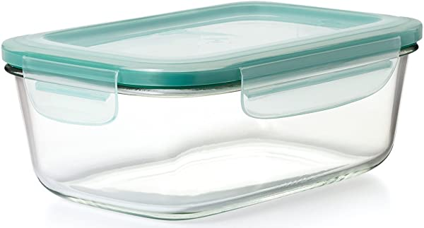 OXO Good Grips 8 Cup Smart Seal Leakproof Glass Rectangle Food Storage Container