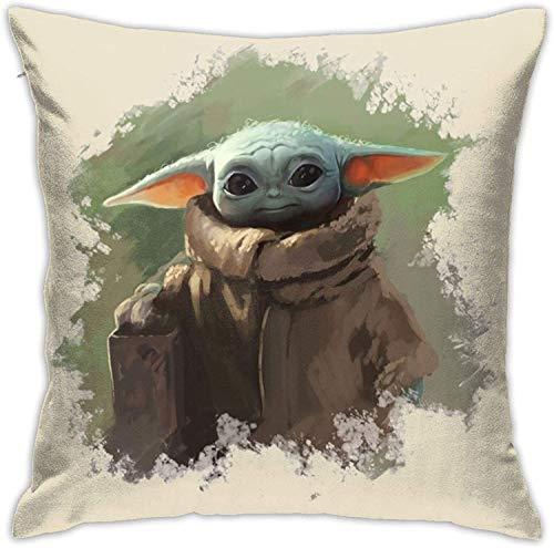 Fundas de almohada decorativas de Star Wars para decoración del hogar, fundas de almohada cuadradas para sofá cama, sofá con cremallera oculta 45,7 x 45,7 cm