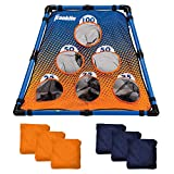 Franklin Sports Unisex Youth Starter Toss-Includes 6 Cornhole Bean Bags and Foldable Target-for Kids and Family Fun, Blue/Orange, Multisized