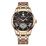 SITAO Herrenuhren Neue Tourbillon Automatik mechanische Uhren Herren Wasserdicht Armbanduhr Marke