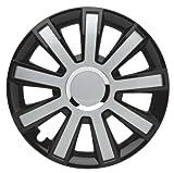 ALBRECHT automotive 49376 Tapacubos Flash III 16' pulgadas, 4 Unidades, Negro/Plateado