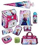 Familando Disney die Eiskönigin Anna & ELSA Schulranzen-Set 10-TLG. Scooli Campus Fit Frozen Magic mit Sporttasche Federmappe Schultüte 85 cm und Regenschutz