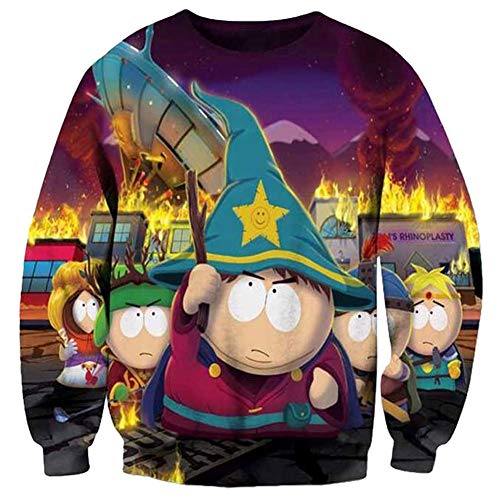 Funny Hoodies Interessant Hot Sweatshirt 3D Kleidung T-Shirt Gr. S, South Park
