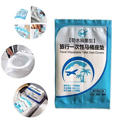 YFOX Sedile del Water monouso,Impermeabile,Antibatterico,Portatile per Viaggio/Scatola,100 Avvolto Individualmente