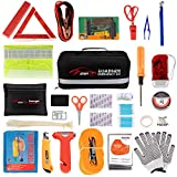 STDY 57-in-1 Car Emergency Roadside Kit, Winter Auto Vehicle Safety Emergency Road Side Assistance Kits with Jumper Cables, Tow Rope, Warning Triangle, Tire Pressure Gauge, etc jumper cables Oct, 2020
