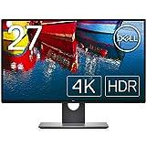 4K解像度、DELL HDR、InfinityEdge対応、超薄型ベゼル設計の27インチ高性能IPSモニタ [画面サイズ]27インチ、[パネルタイプ]IPS 非光沢 [解像度]3840x2160、[アスペクト比]16:9 [輝度]350cd/m²、[コントラスト比]1,300:1 [応答速度]5ms(Fast) [接続端子]DPx1,mDPx2,HDMIx1 [調節機能]高さ:○/チルト:○/スイベル:○/:ピボット:○/アーム対応:VESA 100x100(mm) [色深度]10.7億色、[色...