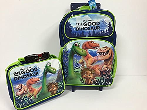 Christmas Gift for Boys The Good Dinosaur 16  Rolling Backpack Combo Set by Disney